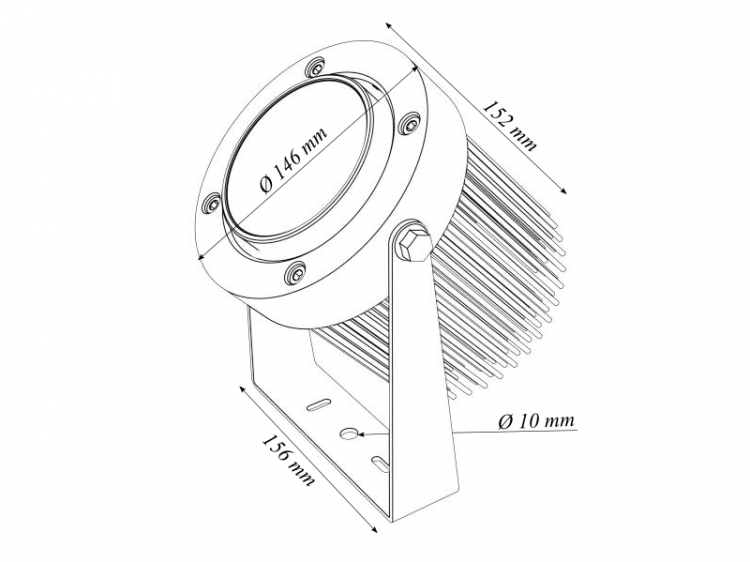 PowerEye Led Luminaire dimensions