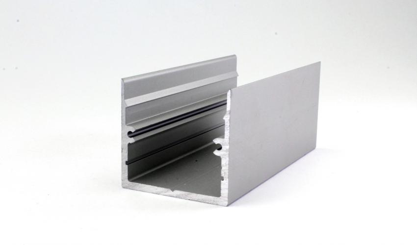 Square 45 Silver Extrusion Profile